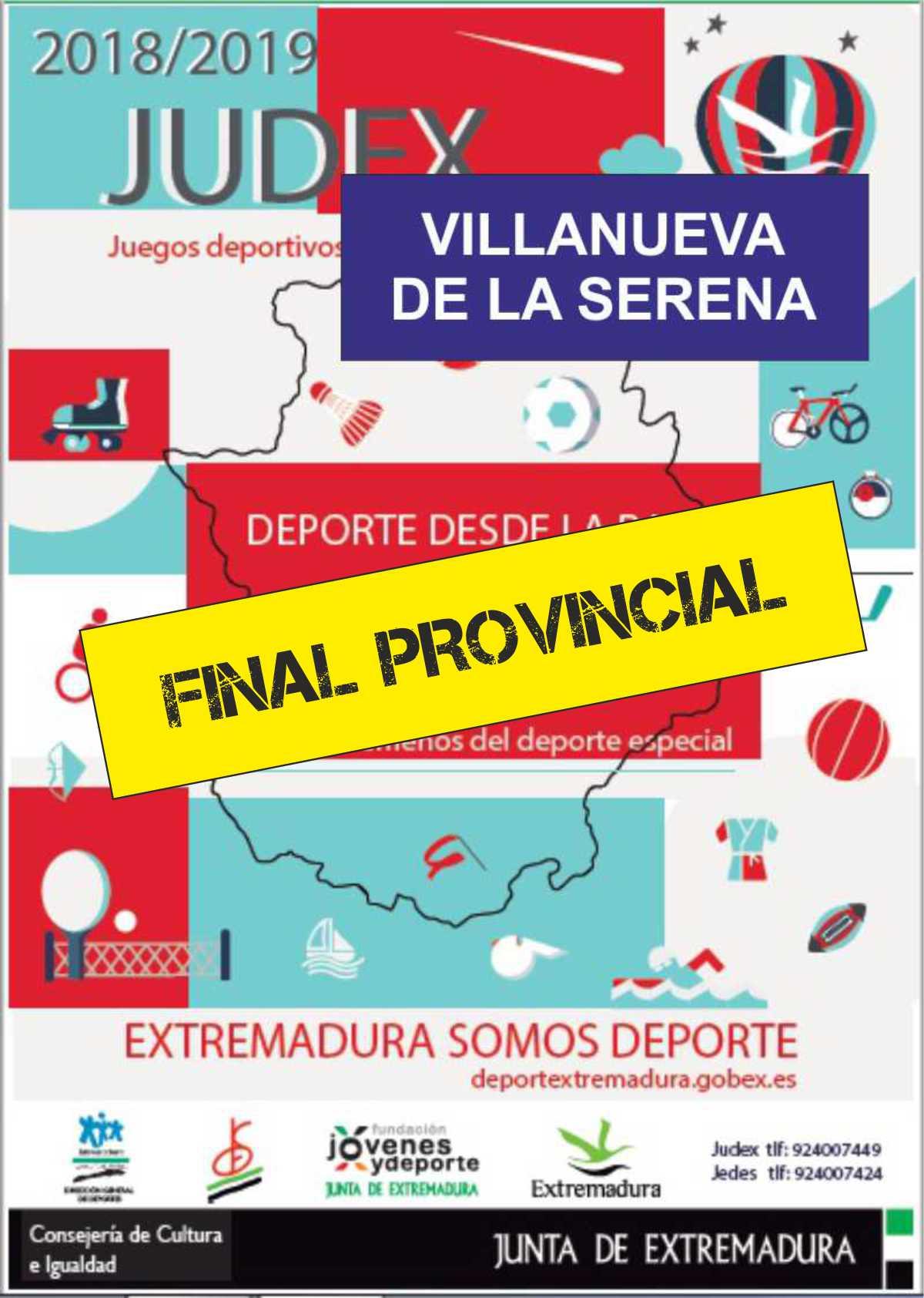 JUDEX Final provincial 2019 Villanueva de la Serena