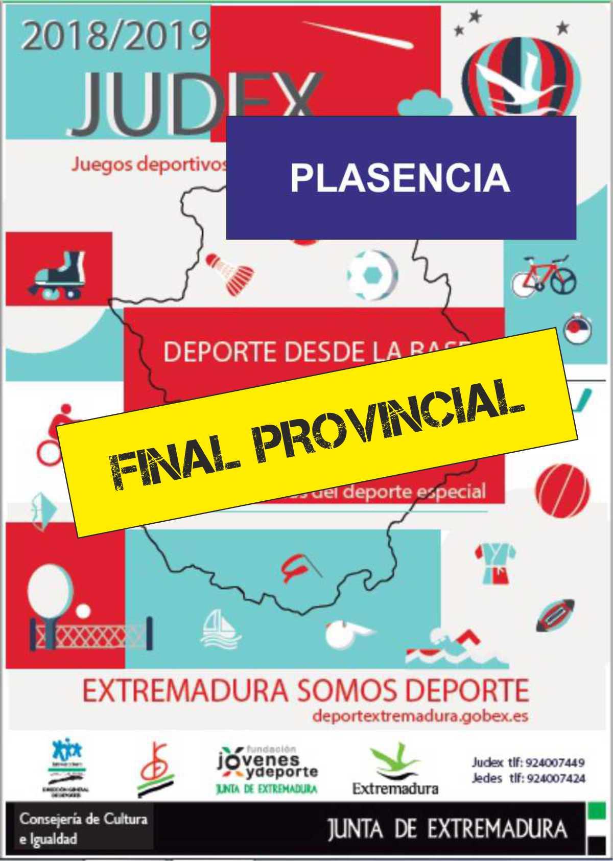 JUDEX Final provincial 2019 Plasencia