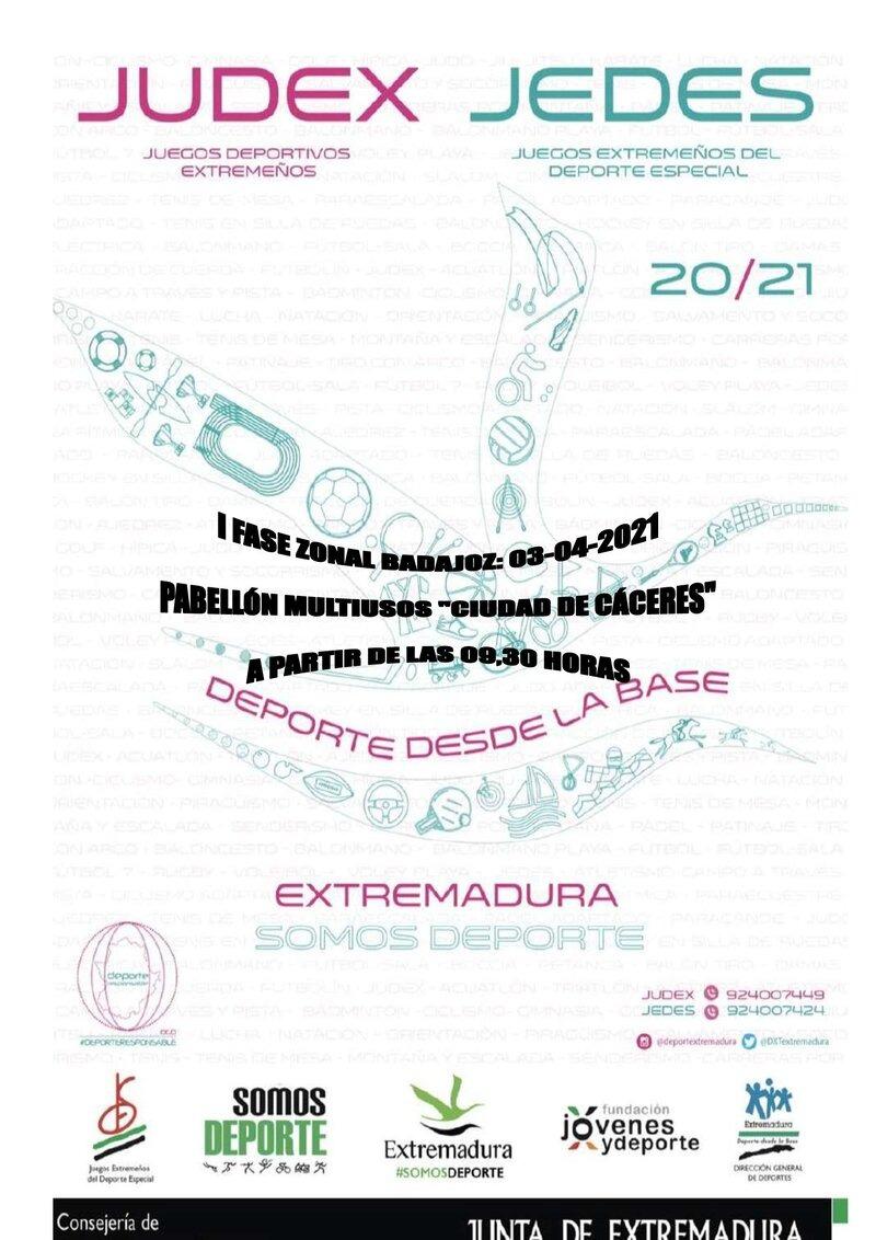 JUDEX 2021 - Fase 1 zonal Badajoz